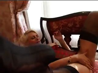 Fiddling her clit while stroking a dildo 10
