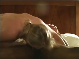 Blonde Hotwife Opening Her Pussy For Black Sperm