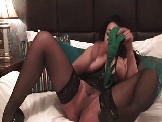 British Slut Danica Plays With Herself In A Green Basque