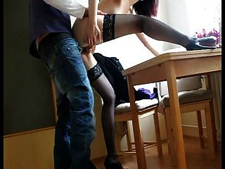 23 Chair Table Fuck With Awsome Heels On