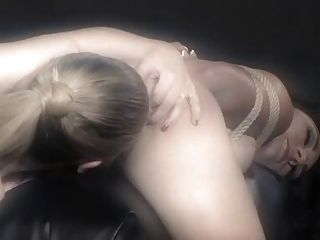 Lesbian Femdom Play With Bondage And Pain