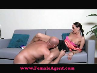Femaleagent cocky casting guy gets dominated - 3 6