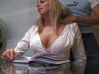 Horny Blonde Secretary Sucking