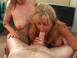 Two Ladies Share A Cock