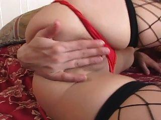 Leah Luv Masturbates In Stockings