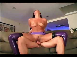 Slutty Fetish Maid Fucks In Shiny Latex Lingerie