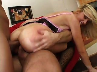 Kelly Wells Takes On 2 Cocks