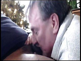 Daddy Sucks Black Cock