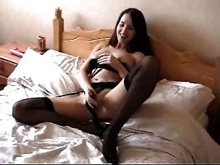 Girlfriend Masturbates And Has Orgasm. Home Made