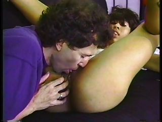 Sweet Young Black Girl White Cocked On A Futon