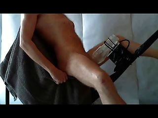 Cuckold milked to oblivion by male milking machine 4