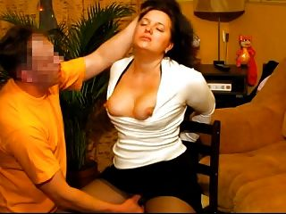 Hot Submissive Wife Gets Face Fucked By Her Russian Hubby