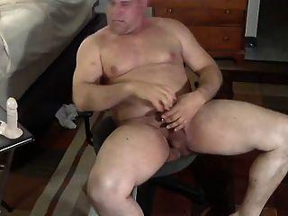 Daddy Bear Plays With Dildo