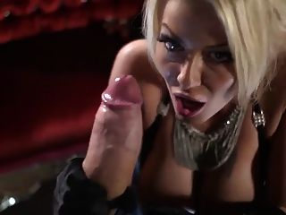Gorgeous Tia Layne Sucks Monster Cock & Gets Messy Facial