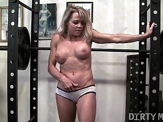 Sexy Blonde Gym Instruction