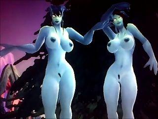 World Of Warcraft Jerk Off 3 - Draenei Sisters