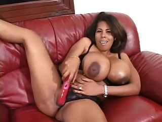 Vanessa Del Huge Black Tits