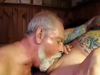 Daddy sucked his cock