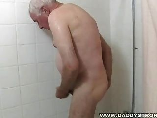 Shower And A Jerk Off For Grandpa
