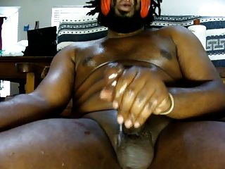 Thick Black Oily Cock Fat Fucking Cum Load