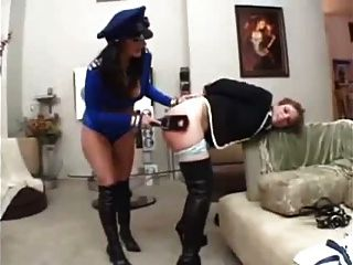 Mistress Sophie Dee Punishes Slut! Squirting Dildo Strapon