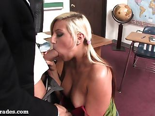 Hot Blonde Fucked By Her Teacher After Class!