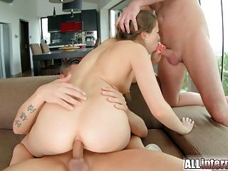 All internal pretty liona gets her tight ass filled with cum - 3 part 8