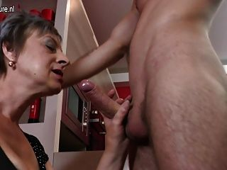 Home Video With Mature Mother And Young Boy