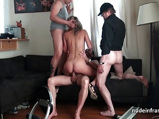 Wife penetrated double Teen and gangbanged