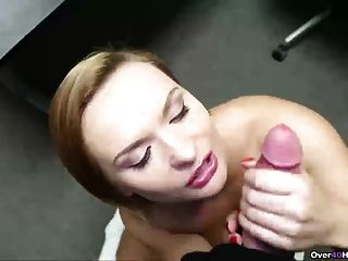 Horny Step-mom Handjob