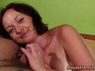 2 Cumshots On Maya Tits