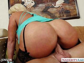 Chesty Milf In Pantyhose Alura Jenson Ride Cock
