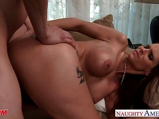 Busty Brunette Mom Syren De Mer Take Cock