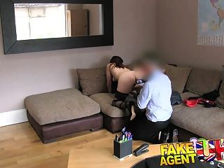 Fakeagentuk Office Couch Sex For Sexy Amsterdam Stripper