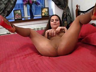 Nightclub Girl Teasing In Pantyhose