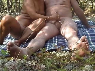 Handjob In The Forest