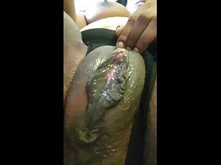 Phat Black Creamy Pussy