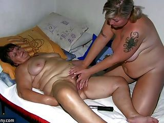Oldnanny Chubby Lady And Milf Masturbate,fuck And Play With