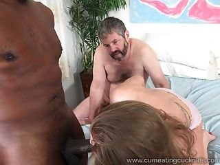 April Brookes Worked By Black Cock While Cuckolding Her Man