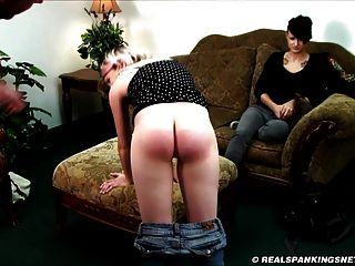 A Bare Bottom Strapping