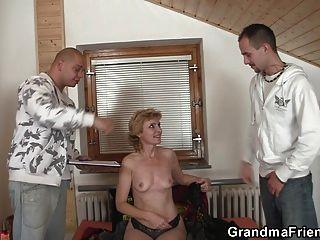 Sexy Granny Double Penetration