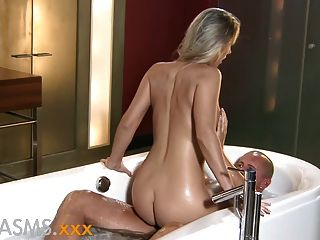 Orgasms Romantic Bathroom Fuck With Hot Blonde