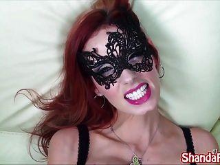 Kinky Milf Shanda Fay Sucks Cock In Mask!