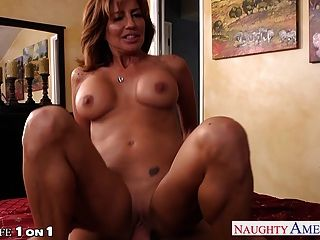 Chesty Housewife Tara Holiday Gets Facialized In Pov