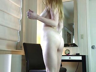 Alexia strutting around with an instrumen