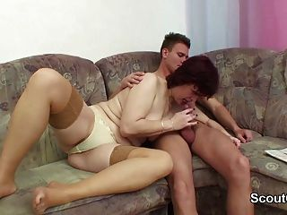 German Mother Seduce Not Her Step-son To Fuck Her When Home