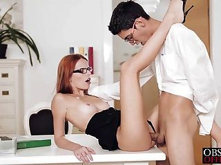 Sexy Susana Is Bent Over Her Office Desk