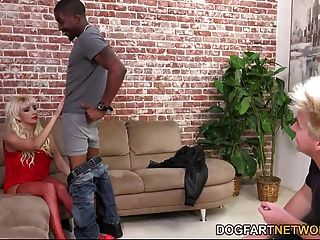 Natasha Juja Fucks A Black Man In Front Of Not Her Step Son