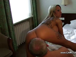 German Amateur Star Get Her Asshole Fucked From Old Men