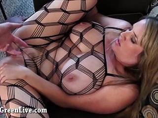 Big Titty Maggie Fucks In Body Stocking!